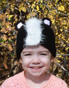 Lil' Stinker Skunk Crochet Hat