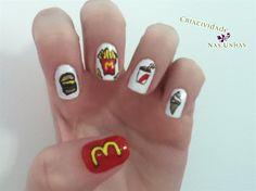 Mc donalds Nail Art by Criatividade - Nail Art Gallery nailartgallery.nailsmag.com by Nails Magazine www.nailsmag.com #nailart