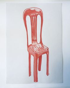 An exaggerated plastic chair.