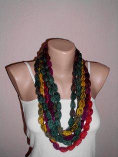 Crochet lariat scarf crochet accessories crochet by crochetmart, $12.00
