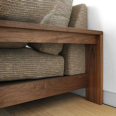 ideas for natural wood bed room furniture couch Wooden Sofa Set, Wood Sofa, Wood Beds, Best Wood For Furniture, Wood Bedroom Furniture, Wooden Sofa Designs, Sofa Pillows, Couch Sofa, Diy Couch