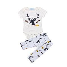 Deer Bodysuit And Leggings Set