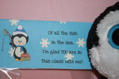 Boy penguin bag topper for classmates $1.50