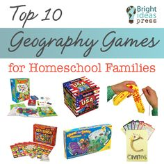 Top Ten Geography Games for Homeschool Families - Bright Ideas Press Geography For Kids, Geography Activities, Teaching Geography, Educational Activities For Kids, Teaching History, Learning Activities, School Fun, High School, School Games