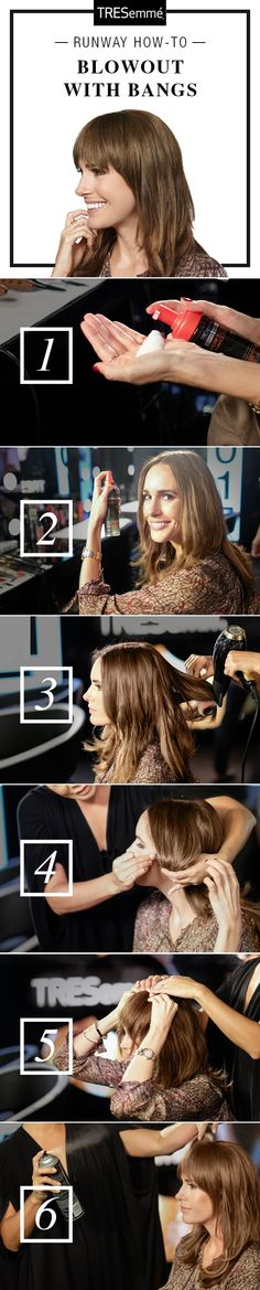 How to blow out bangs/fringe #coniefox