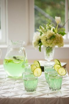 Mint Green Cocktail for St. Patrick's Day Bridal Shower