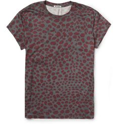 Acne Animal-Print Cotton-Jersey T-Shirt | MR PORTER
