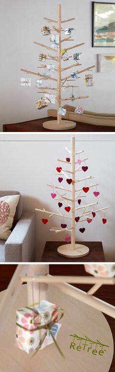 Wooden Christmas tree - love this idea! #product_design