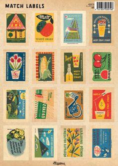 【楽天市場】【アクシス/Homestead】ホームステッド マッチラベル/植物:メルシープレゼント 「雑貨屋」 Vintage Graphic Design, Graphic Design Posters, Retro Design, Graphic Art, Vintage Posters, Vintage Art, Vintage Packaging, Retro Illustration, Tampons