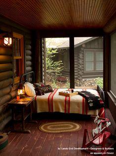 Bed + Porch = a sleeping porch!