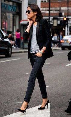 Grey and black blazer