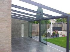 Pergola With Glass Roof Code: 5605787665 Pergola With Roof, Patio Roof, Cheap Pergola, Pergola Kits, Pergola Ideas, Gazebos, House Extension Design, Patio Canopy, Glass Roof