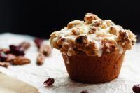 Eggnog Cranberry Orange Muffins on MyRecipeMagic.com Tender, flavourful, amazing eggnog cranberry orange muffins - perfect for your Christmas breakfast plans!