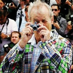"Bill Murray and a MINOX Digital Classic Camera DCC He's Bill ""Groundhog-Day, Ghostbustin'-ass"" Murray, I don't care about the camera. Excellent submission by History Of Photography, Photography Camera, Amazing Photography, Classic Camera, Lights Camera Action, Famous Photographers, Celebrity Photographers, School Photos, Vintage Cameras"