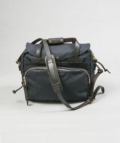 Filson Padded Laptop Briefcase Navy