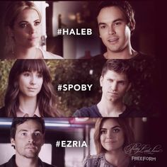Haleb and Spoby. Although Haleb is my favorite ship. Also because Hanna's my favorite character and Caleb is just so sweet, cute, nice, funny, smart and everything more.