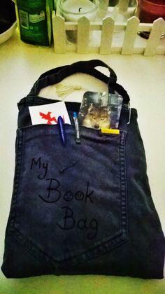 Diy Book Bag using an old jean