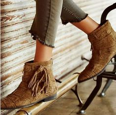 Free People Decade'S Ankle Boots Taupe Size 7