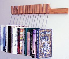 Oak Wooden Book Rack  This would be really awesome with a few antique books to accent a room/library area.