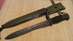 "Spanish CETME Bayonet Knife Surplus 13 1/4"" W/ Scabbard Original Vintage Spain #CETME"