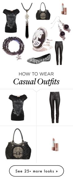 """""""Casual Gothic"""" by theblackcatjewellerystore on Polyvore featuring H&M, T.U.K., gothic and gothicfashion"""