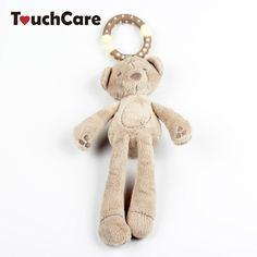 Säuglings Niedlichen Cartoon Kaninchen Bär Rassel Baumwolle Weiche Babybett kinderwagen Hängen Glocke Plüsch Spielzeug Doll Musikmobile Windspiele toys