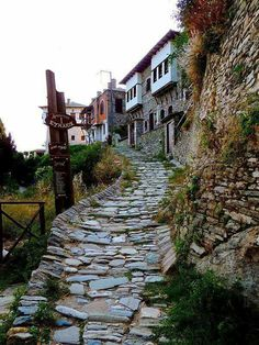 Makrinitsa village in Pelion, Thessaly, Greece Beautiful Islands, Beautiful World, Beautiful Places, Myconos, Hiking Europe, Paradise On Earth, Porches, Travel Memories, Greece Travel
