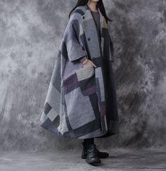 Gray Retro Woolen Jacket