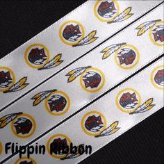 Washington Redskins Ribbon, 3 Yards, 7/8 inch Satin