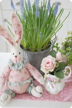 Somebunny Loves You, Here Comes Peter Cottontail, Honey Bunny, Spring Blossom, Rose Cottage, Blooming Flowers, Pretty Pastel, Love Is Sweet, Easter Crafts
