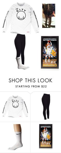 """Golden state warriors"" by shayrock9581 on Polyvore featuring Mitchell & Ness, NIKE and Steiner Sports"