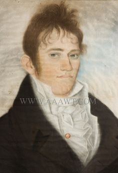 "A pastel portrait of a handsome and agreeable Daniel Doughty Smith Jr., 1783-1820, inscribed on back of original backboard ""Daniel Doughty S..."