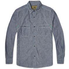 001e32b832f7 Nigel Cabourn Medical Shirt (Indigo Raw Denim) Raw Denim