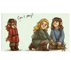 Young Gimli, Kili, & Fili