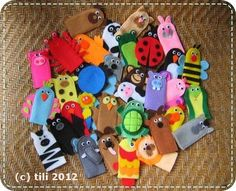 A BAG FULL OF FINGER PUPPETS