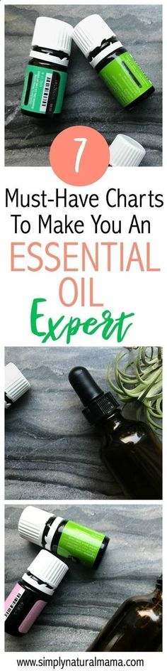 Here are seven must-have charts to help you become an essential oil expert. Are you lost and dont know all of the fun and unique things you can do with your essential oils? Well, then you gotta check this article out! via Millason   SimplyNaturalMama.com  #essentialoilsfun