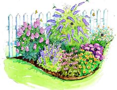 Garden Planning Bird and Butterfly Garden; this may be a good idea for our back corner,but with a shade tolerant plant in the back corner. - Add big color to your compact landscape with our collection of ideas for small garden plans.