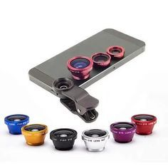 Clip & Snap a set of 3 clear image lens for your Smartphone Now have fun taking pictures with your smart phone with the help of 3 camera lenses that quickly