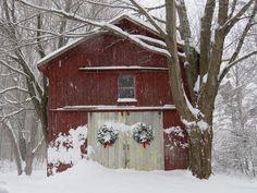 my snowy holiday barn !