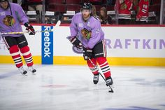 Duncan Keith on Hockey Fights Cancer Night. e0fb2ed85