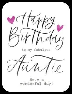 Auntie Birthday Quotes, Happy Birthday Aunt From Niece, Special Happy Birthday Wishes, Thank You Messages For Birthday, Thank You For Birthday Wishes, Birthday Wishes Greeting Cards, Aunt Birthday, Happy Birthday Wishes Quotes, Happy Birthday Beautiful