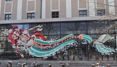 If you have ever wondered what is underneath the cartoony facade of a Ninja Turtle, look no further. Nychos, the Vienna-based street muralist and artist has created a series of gigantic murals which show cool creatures and characters as they would be dissected. Check them out!