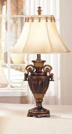 """Set of 2 New 28H Poly Table Lamp Pds F50204. New 28H Poly Table Lamp. size:28""""H. home chandelier. set of 2."""