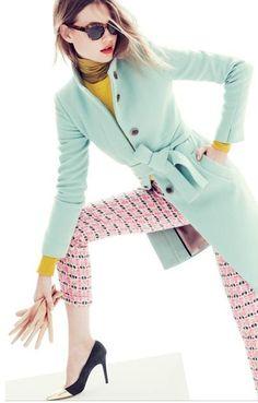 Pastel coat from J.CREW
