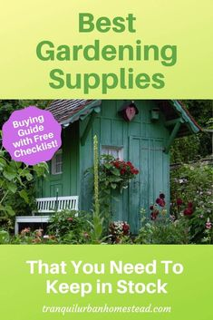 Problems keeping your gardening supplies in stock? Know exactly what you need and get the free checklist so you never run out again. Garden Pests, Garden Tools, Garden Labels, Fertilizer For Plants, Plant Diseases, Mini Greenhouse, Plant Supports, Cold Frame, Plant Markers