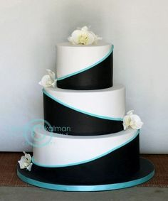 Southern Blue Celebrations: Teal Wedding Cake Ideas