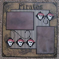 Scrapbook Layout Pirates  12 x 12  Double by TwoCraftyCreations