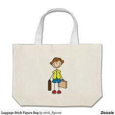 Luggage Stick Figure Bag