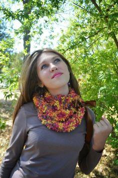 Crochet scarf Autumn Feverhandmade neckwarmer by irinacarmen, $34.00