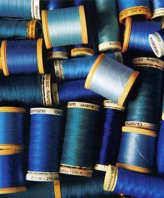 Spooled sea of azures. Love Blue, Blue And White, Color Blue, Blue Velvet, Midnight Blue, My Favorite Color, Textures Patterns, Cobalt Blue, Shades Of Blue